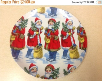 On Sale Vintage Holiday Plate 1982 A Company of Friends Santa Claus Plate Holiday Serving Plate Collectable Plate