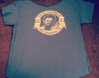 Texas chainsaw massacre off the shoulder tshirt
