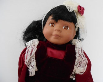 Vintage African American Porcelain Doll