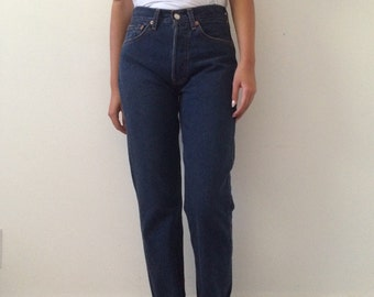 Vintage Levi's 501 Blue Jeans Women's Deadstock 26 x32 High Waisted Straight Leg