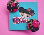 Vintage, Black And Pink R...