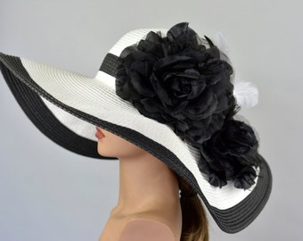 Woman Strips Hat Church Wedding Hat Head Piece Kentucky Derby Hat Bridal Coctail Hat Couture Fascinator  Bridal Hat
