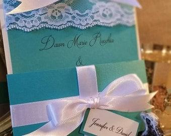 Aqua Wedding Invitation, Baby Shower Invitation, Wedding Shower Invitation, Bachelorette Party Invitation