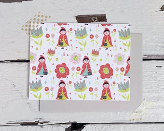 Little Red Riding Hood Card 1pc