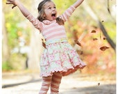 Buy 2 Get 1 Free...Evaline Pintucks and Roses Knit Bodice Dress w Ruched Sleeves Girls Sizes 3-6m to 11/12