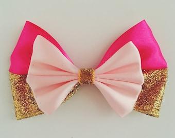 Sleeping Beauty Princess Aurora Inspired Bow