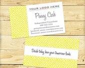 Custom Business Card Image, Yellow Greek Key Design - DIGITAL FILE
