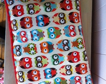Buckwheat hulls and pillowcase, owls multi pillow