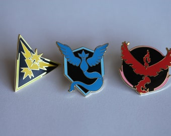 Pokemon Go! One of Each Team Pins