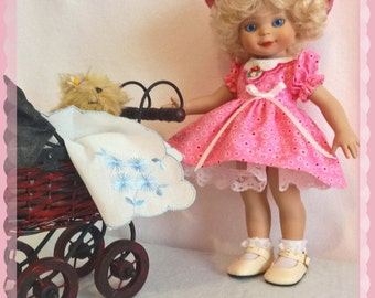 Sunday Stroll in the Park dress set for 10 inch Patsy Linda Ann or half pints tonner dolls