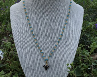 Authentic Shark Tooth on Beaded Chain
