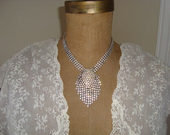 Deco Art Bridal Rhinestone Necklace