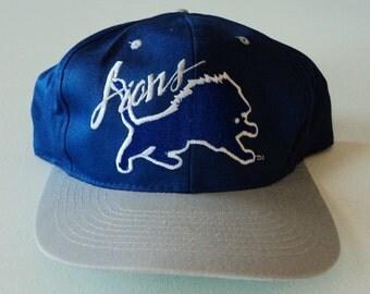 Vintage Detroit Lions AJD Deadstock Snapback Hat NFL VTG
