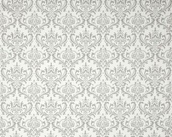 Madison Twill Storm Fabric - One Yard - Premier Print Fabric - Gray / Grey and White Home Dec Fabric