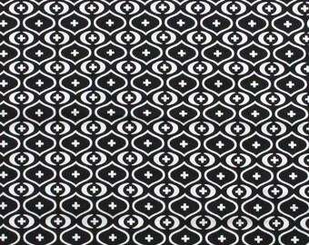 Akita Black White Premier Prints Fabric - One Yard - Black and White Home Dec Fabric