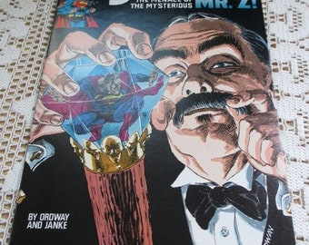 Vintage Comic Book - 1991 Superman - The Menace of the Mysterious Mr. Z!    - Estate find