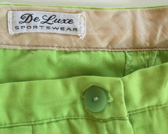 SALE 60's MOD Shorts Side Zip Bermuda Shorts by De Luxe Sportswear