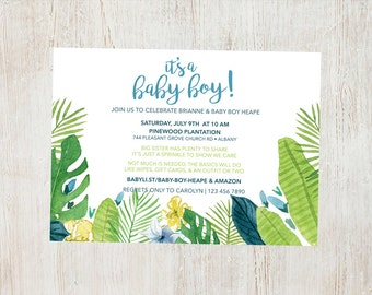 Tropical Baby Shower/Sprinkle Invitation