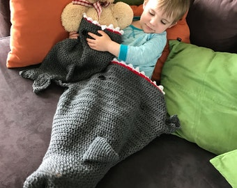Shark blanket, from baby to adult sizes