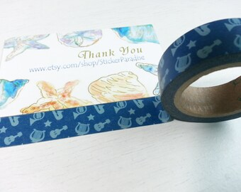 Blue Guitar Washi / Masking Tape - 10M