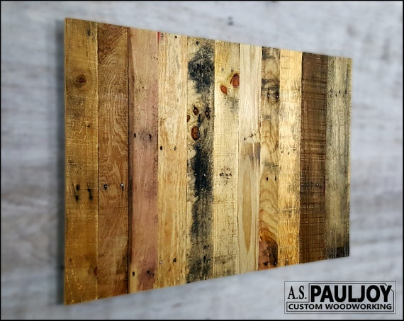 Distressed rustic pallet wood reclaimed blank panel for sign
