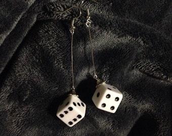 Dice earrings yu-gi-oh inspired