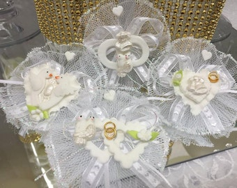 12 Assorted Style Wedding Capia Favor Decorations