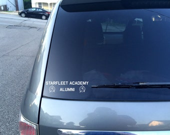 Starfleet Academy Alumni Car Decal