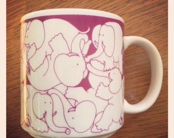 Rare Taylor & Ng Magenta Orgy Elephants 1984