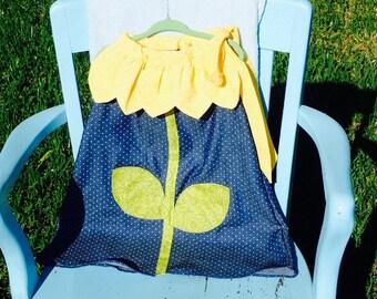 Sunny Sunflower Toddler Girl Dress_Sizes 1T-5T