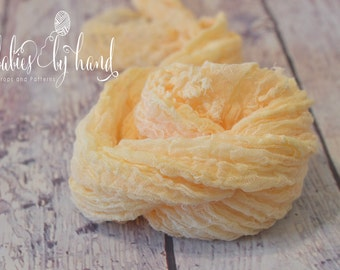 Newborn Photo Prop, Cheesecloth Wrap, Baby Cheesecloth Photo Prop, Baby Wrap Cheesecloth, Newborn Posing Prop APRICOT Cheesecloth Baby Wrap