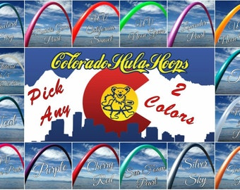 "Special 2 for 35 Colored 3/4"" PolyPro Hula Hoops - You Choose Color and Size for the Hoop"