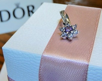 Pandora Sterling  Silver Forget Me Not Flower Charm