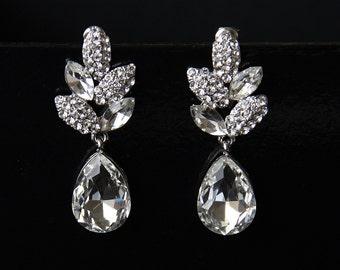 Bridal Earrings, Bridal Crystal Earrings, Bridal Earrings Crystal, Swarovski Drop Dangle Bridal Earrings, Wedding Earrings, Crystal Earrings