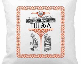 Vintage Tulsa Pillow Cover