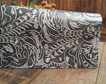 Tooled Silver Checkbook Cover