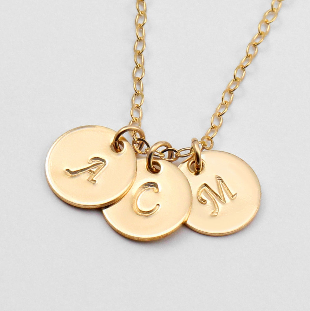 personalized gold necklace mothers necklace initial. Black Bedroom Furniture Sets. Home Design Ideas
