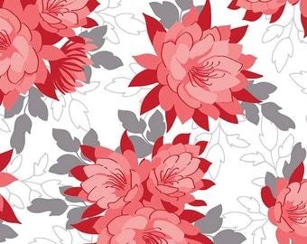 Desert Bloom Main in Red by Amanda Herring for Riley Blake Fabrics - Half Yard or By the Yard