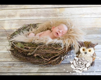 NEST Photography Prop, Organic Nest, Twigs Nest, Baby Photo Prop, Newborn Photography