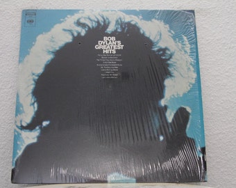 """Bob Dylan - """"Bob Dylan's Greatest Hits"""" vinyl record w/ Psychedelic Poster (NT)"""