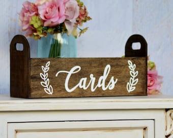 Modern Wedding Card Box, Rustic Card Holder, Woodland wedding decor, Bohemian Wedding Decorations, Bridal Shower, Gift for the Bride