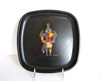 Vintage Couroc Of Monterey Kachina Tray