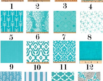 Outdoor Pillow Cover - Turquoise and White PILLOW - Ocean - All Sizes - Indoor/Outdoor - Premier Prints - Aqua Pillow Cover - Lumbar - Euro