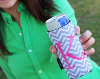 Personalized CAN CUDDLER ®& free KOOZIE ® with purchase-Select Can, Slim Can, Water Bottle, 8 oz, Beer Holder Size- Monogram Can Coolers