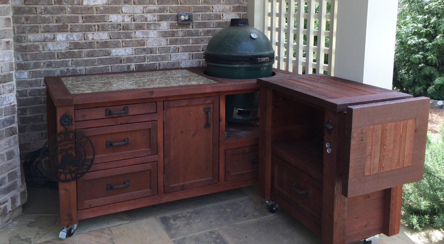 Grill Table Or Grill Cabinet For Big Green Egg Kamado Joe
