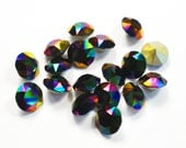 Swarovski 39ss 1088 Rainbow Dark Xirius Chatons 8mm Crystal