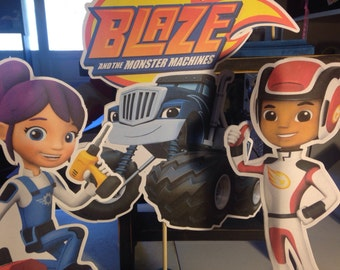 Blaze and The Monster Machines Centerpieces set of 6