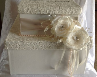 Elegant wedding card box