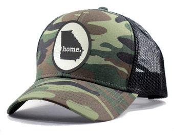 Homeland Tees Georgia Home Army Camo Trucker Hat
