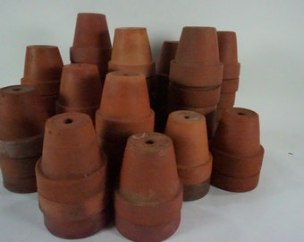 Terracotta Planters, Seedling Pots, Clay Seed Pots, Growing Seedlings, Greenhouse Supplies, Starting Seeds, SOLD PER PC